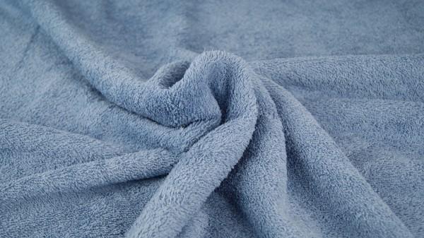 Frottee Uni Jeansblau