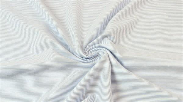 Jersey Streifen Hellblau
