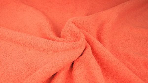 Frottee Uni Orange-Weiß