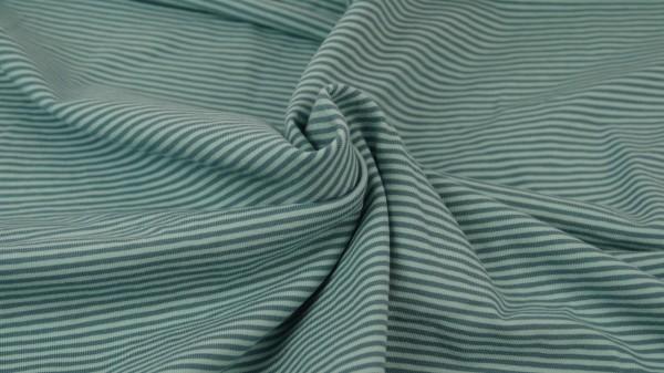 Jersey Streifen garngefärbt Mint