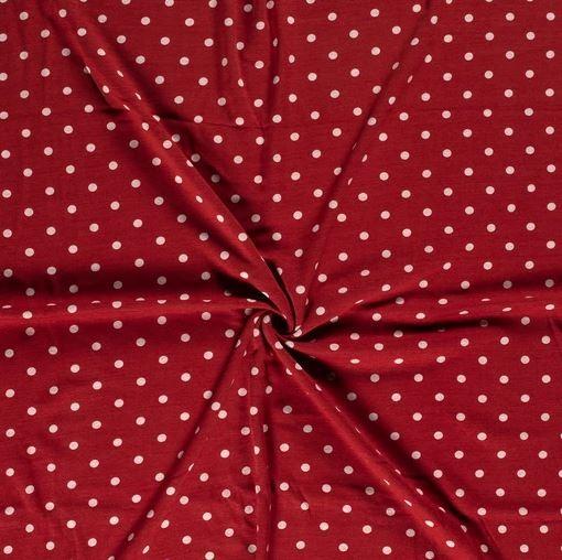 Alpenfleece Punkte Rot