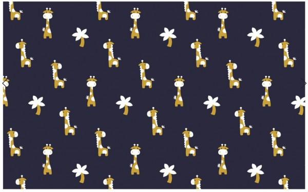Jaquard Giraffe Jungle Nachtblau