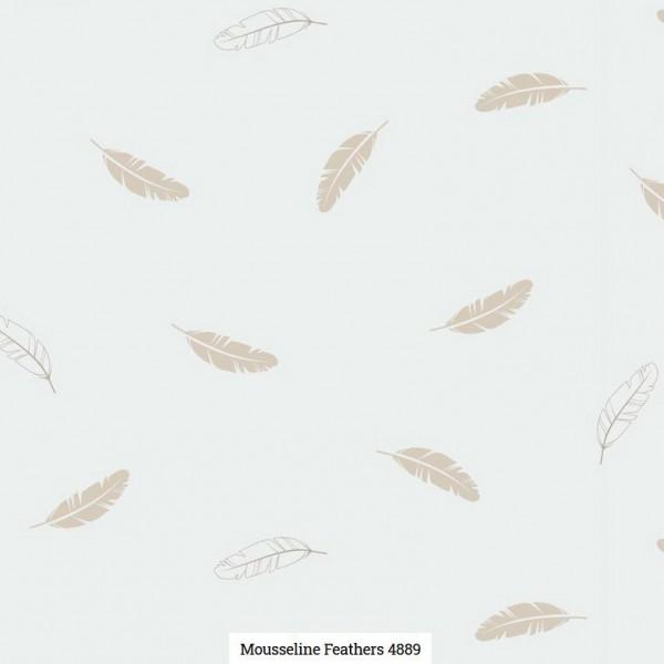 Musselin Druck Federn Artikelnr.:SL4889-51