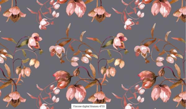 Viscose Digital Blumen Artikelnr.:SL4733-68