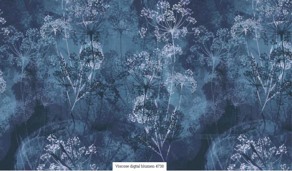 Viscose Digital Blumen Artikelnr.:SL4730-1107