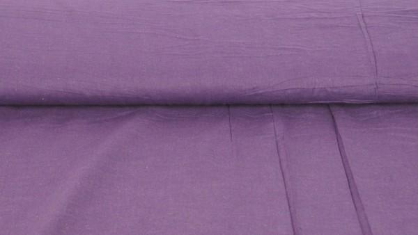 Voile Baumwolle Uni Violett