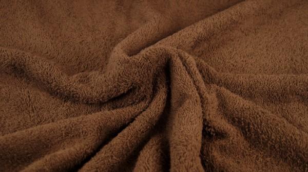 Frottee Uni Braun