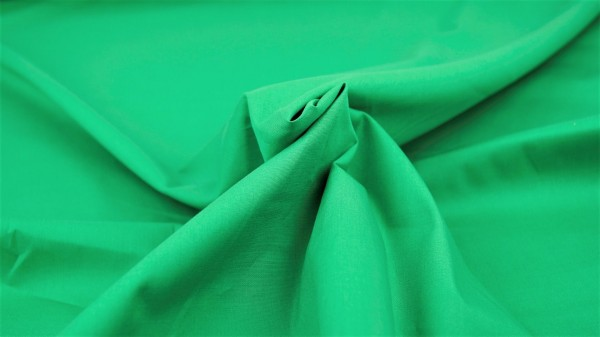 Popeline Uni Grün