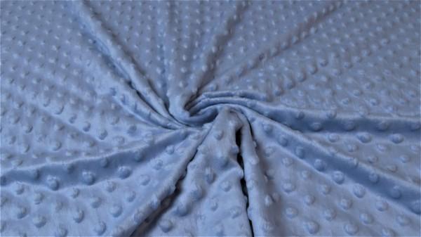 Minki Fleece Mikrodots Jeansblau