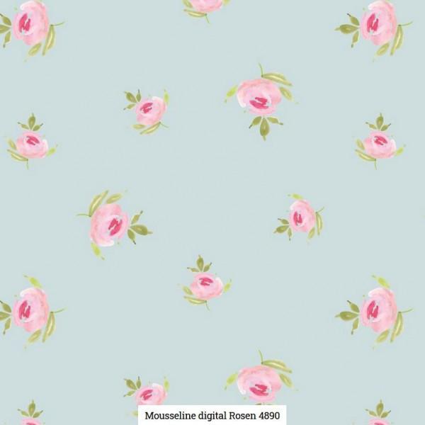 Musselin Digital Rosen Artikelnr.:SL4890-1001