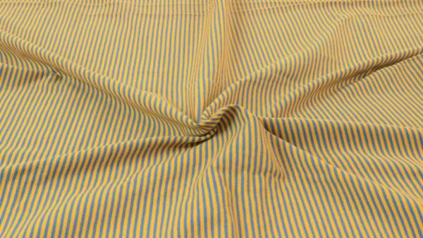 Jersey Streifen garngefärbt Ockergelb