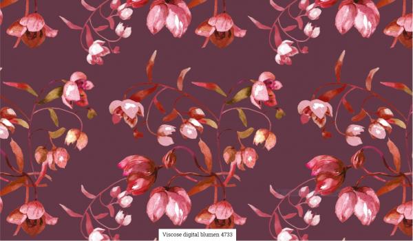 Viscose Digital Blumen Artikelnr.:SL4733-1119