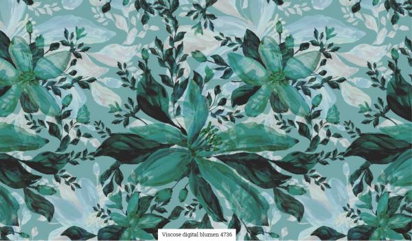 Viscose Digital Blumen Artikelnr.:SL4736-1103