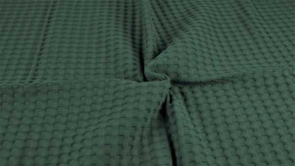 Waffelpique Schwer Armeegrün