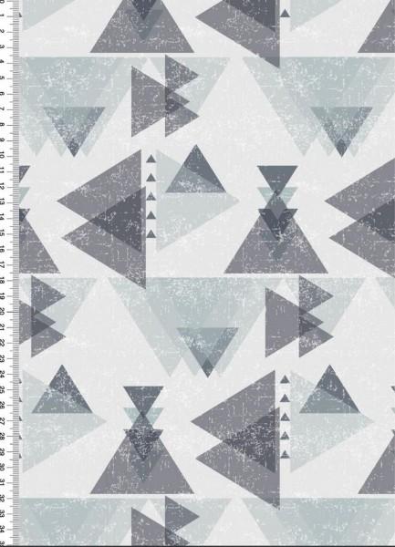 BIO Jersey Dreiecke Grau
