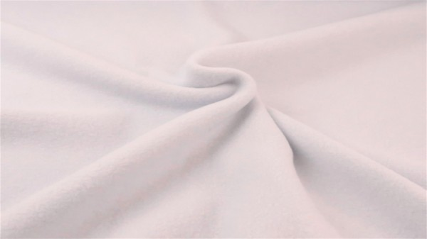 Baumwollfleece Weiß