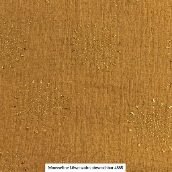 Musselin Pusteblume Glitter Artikelnr.:SL4885-1352