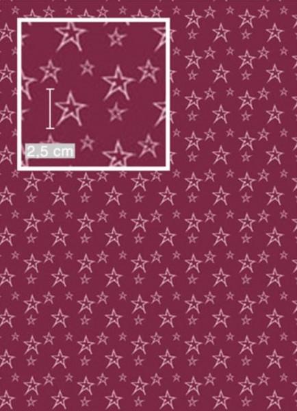BIO Jersey Sterne Bordeaux