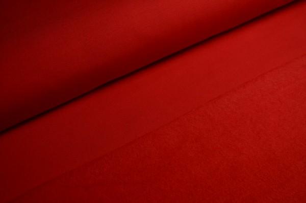 French Terry Aufgeraut Uni Rot
