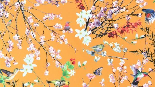 Softshell Digitale Blume Ockergelb