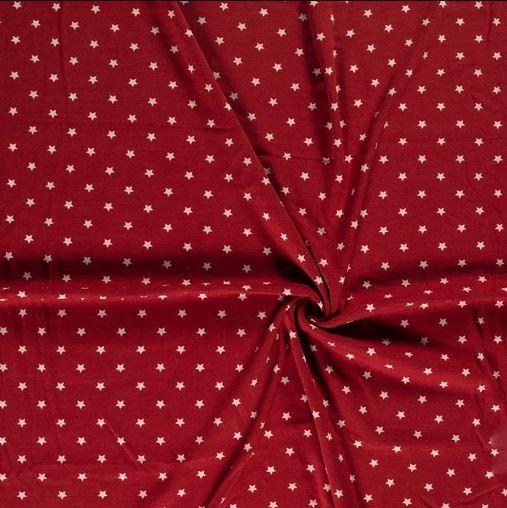 Alpenfleece Sterne Rot