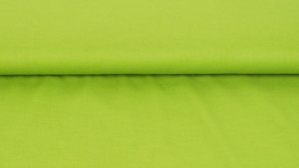 Voile Baumwolle Uni Limette