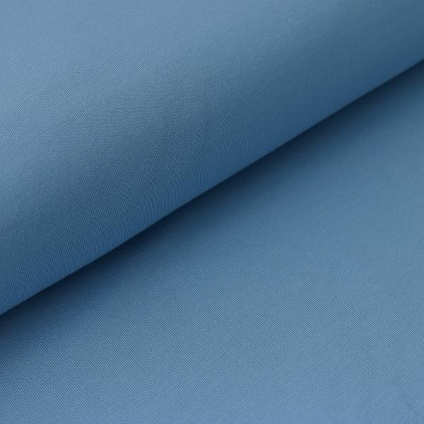 Jersey Uni Jeans Blau