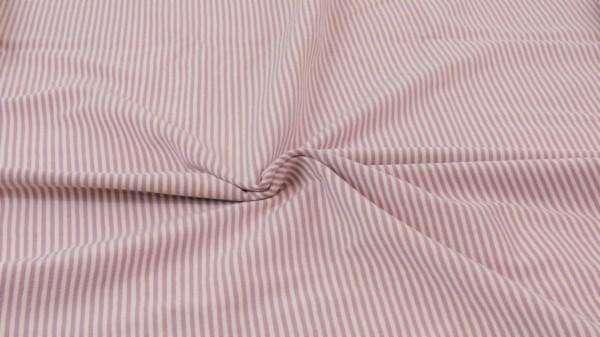 Jersey Streifen garngefärbt Altrosa