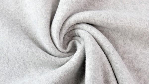 Baumwoll Double Fleece Grau