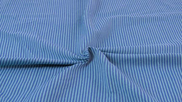 Jersey Streifen garngefärbt Dunkelblau