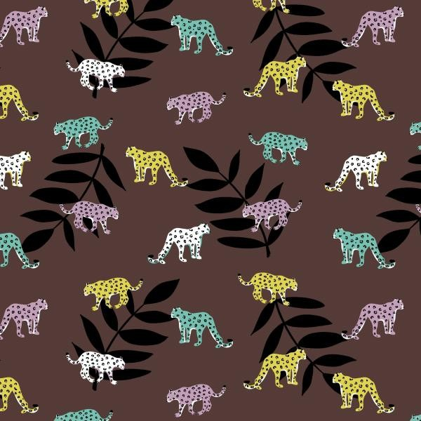 French Tery Brushed Leopard Braun-Copy