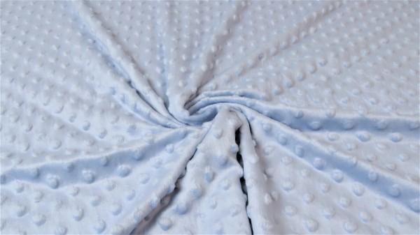 Minki Fleece Mikrodots Hellblau