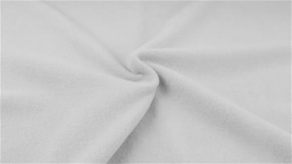 Baumwollfleece Hellgrau-weiß