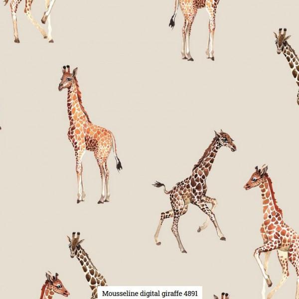 Musselin Digital Giraffe Artikelnr.:SL4891-652