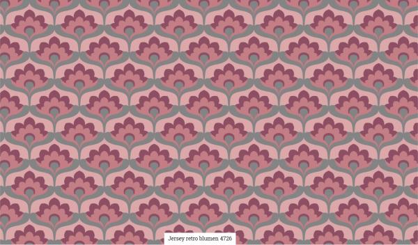 Jersey Retro Blumen Artikelnr.:SL4726-764