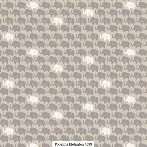 Popeline Druck Elefanten Artikelnr.:SL4895-1453