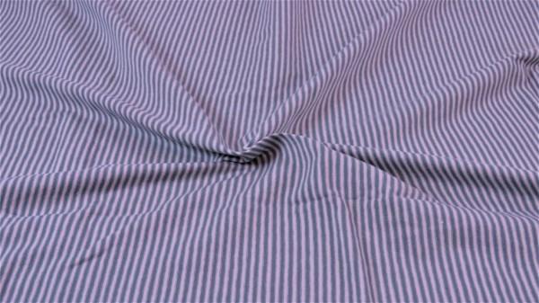 Jersey Streifen garngefärbt Dunkelgrau