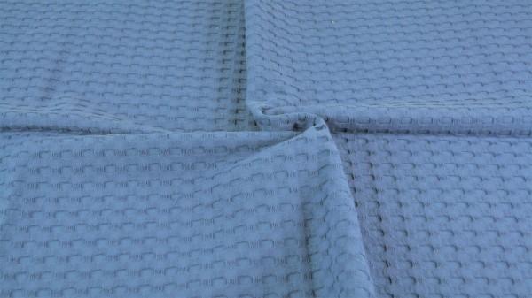 Waffelpique Schwer Jeansblau