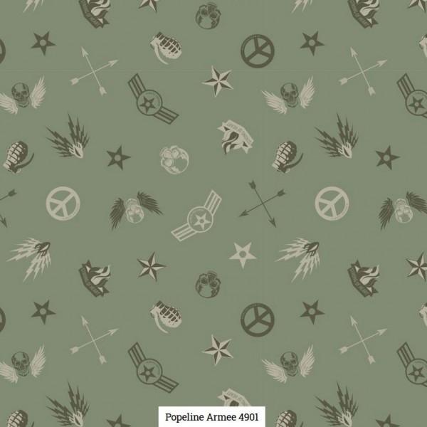 Popeline Druck Army Artikelnr.:SL4901-1121