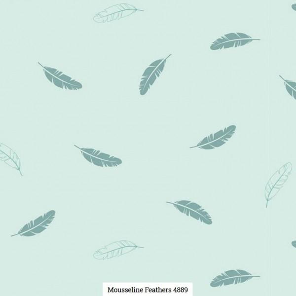 Musselin Druck Federn Artikelnr.:SL4889-421