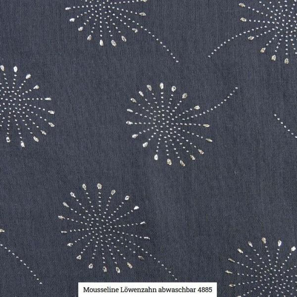 Musselin Pusteblume Glitter Artikelnr.:SL4885-1107