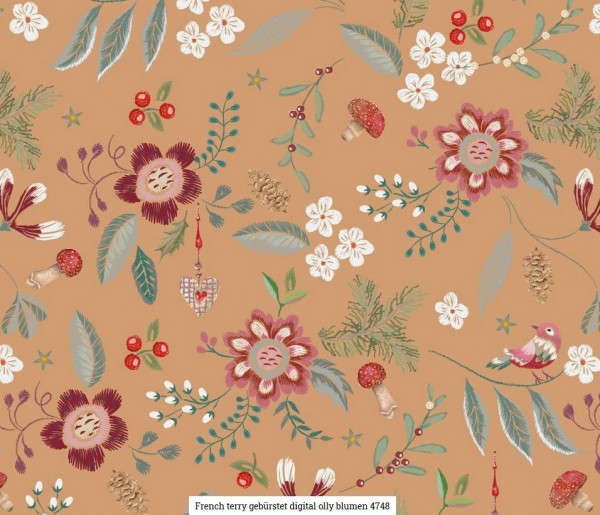 FT-Brushed Digital Blumen Artikelnr.:SL4748-1552