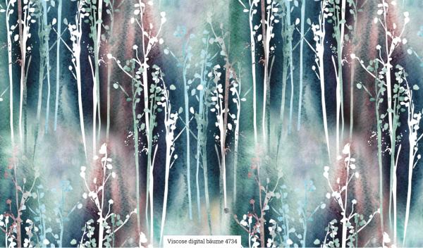 Viscose Digital Bäume Artikelnr.:SL4734-1506