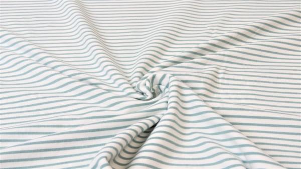 Jersey Streifen Altgrün