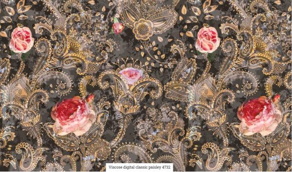 Viscose Digital Paisley Artikelnr.:SL4732-1558