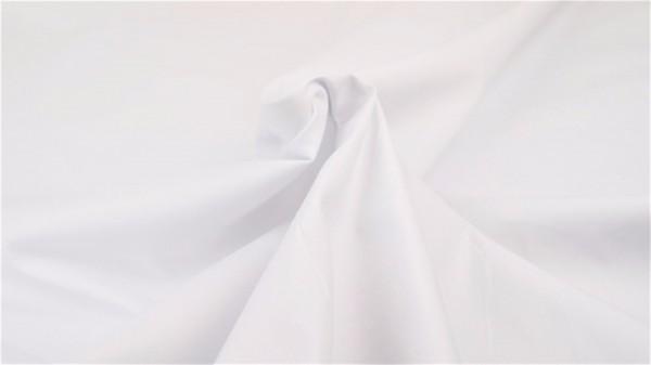 Popeline Uni Weiß